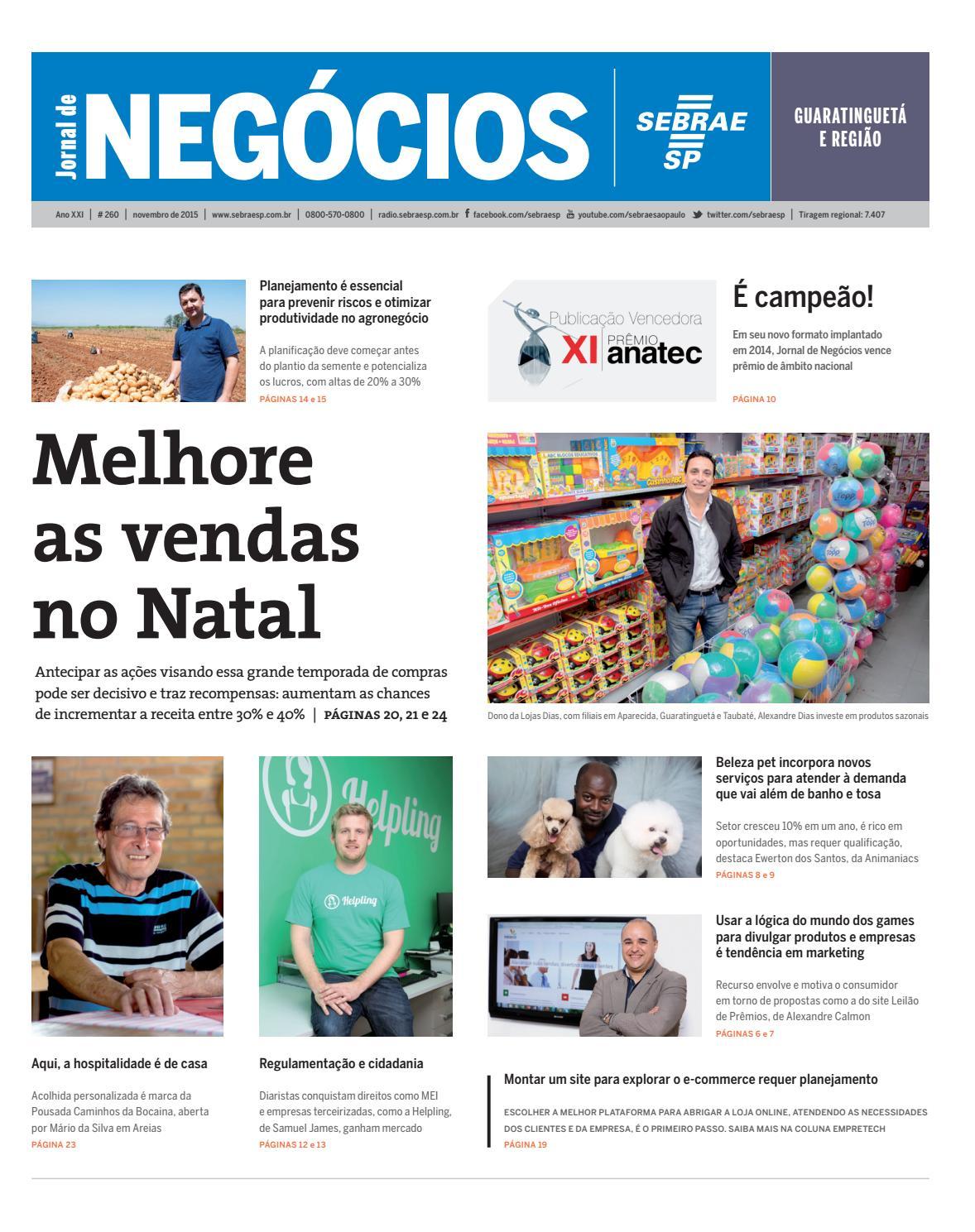 Jornal de Negócios Sebrae-SP - 01 de novembro de 2015 – Guaratinguetá by  Sebrae-SP - issuu 822519562c