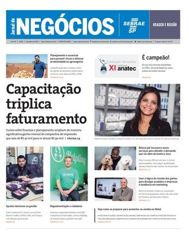 b0c20b082a Jornal de Negócios Sebrae-SP - 01 de novembro de 2015 – Osasco by ...