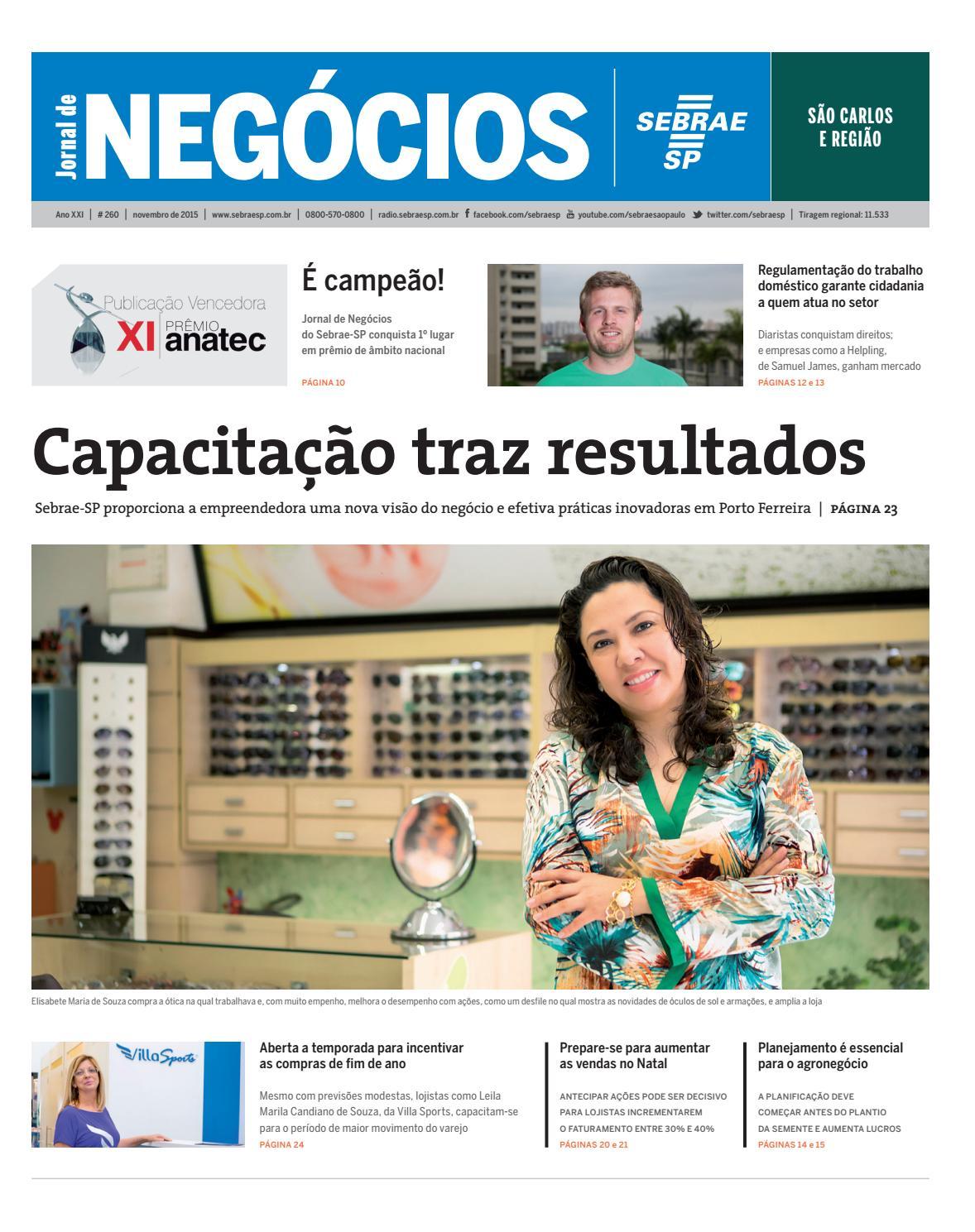 e2b6df01e Jornal de Negócios Sebrae-SP - 01 de novembro de 2015 – São Carlos by  Sebrae-SP - issuu