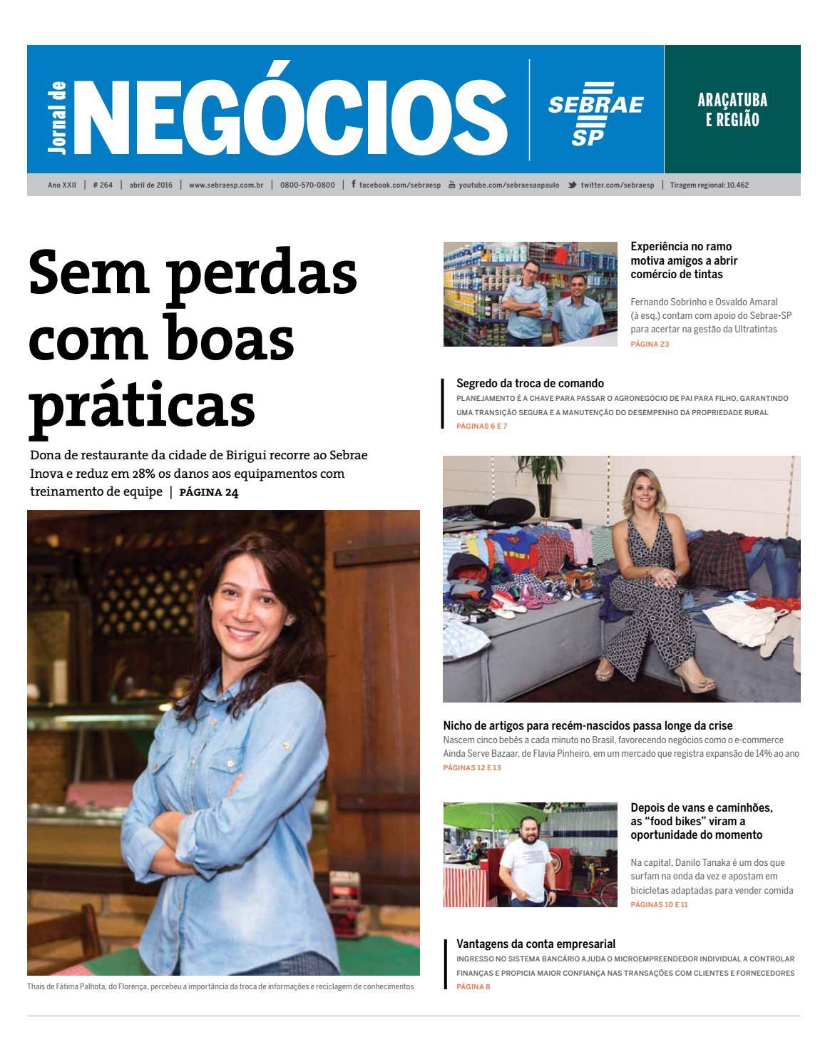 Jornal de Negócios Sebrae-SP - 01 de março de 2016 - Araçatuba e região by  Sebrae-SP - issuu d2df05a3d0108