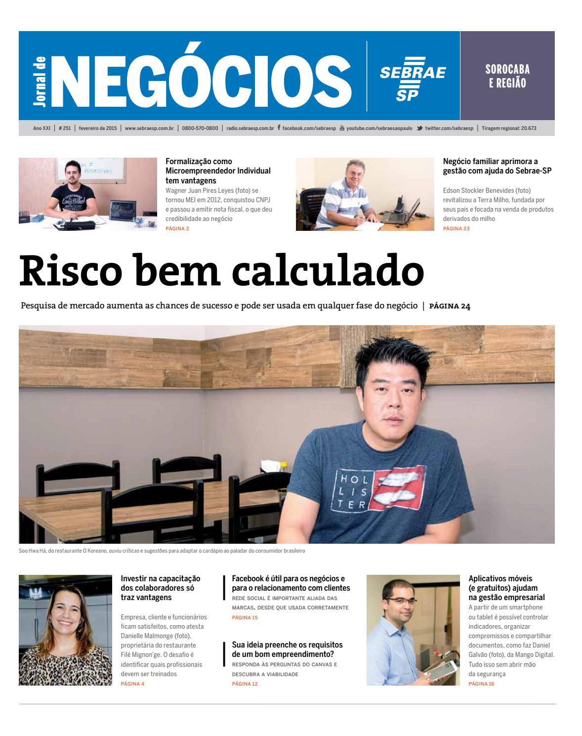 Jornal de Negócios Sebrae-SP - 01 de fevereiro de 2015 - Sorocaba by  Sebrae-SP - issuu eb59e94317f5f