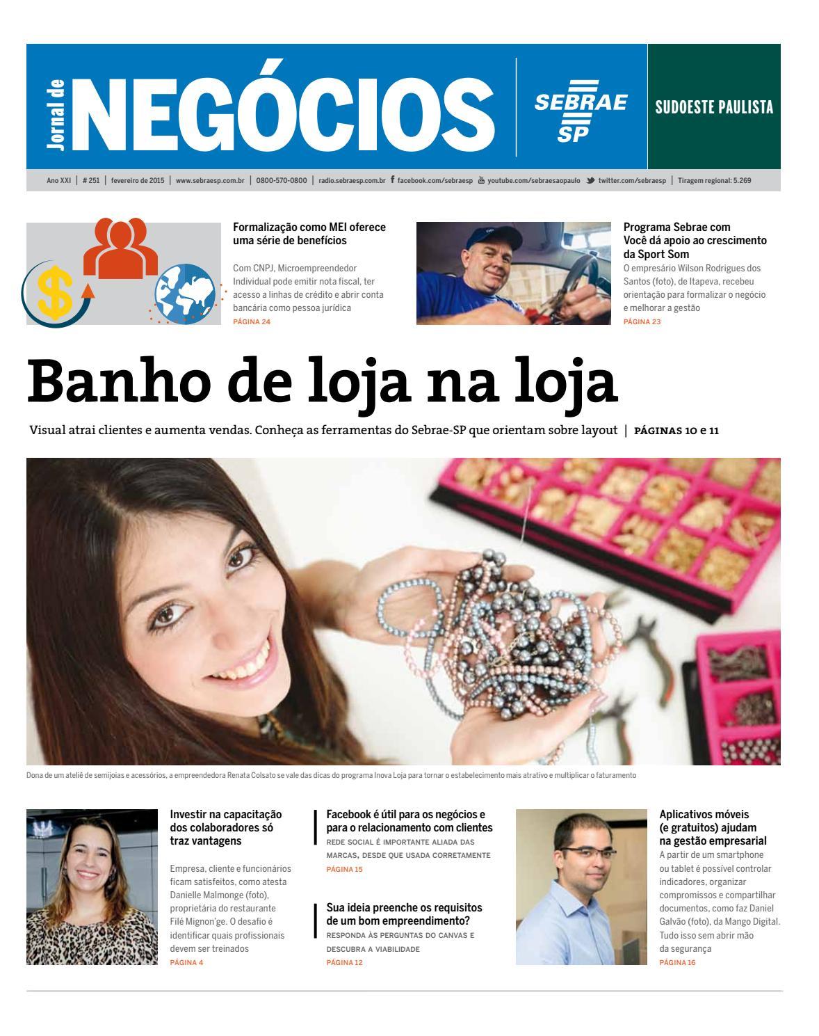1c6946500 Jornal de Negócios Sebrae-SP - 01 de fevereiro de 2015 - Sudoeste Paulista  by Sebrae-SP - issuu