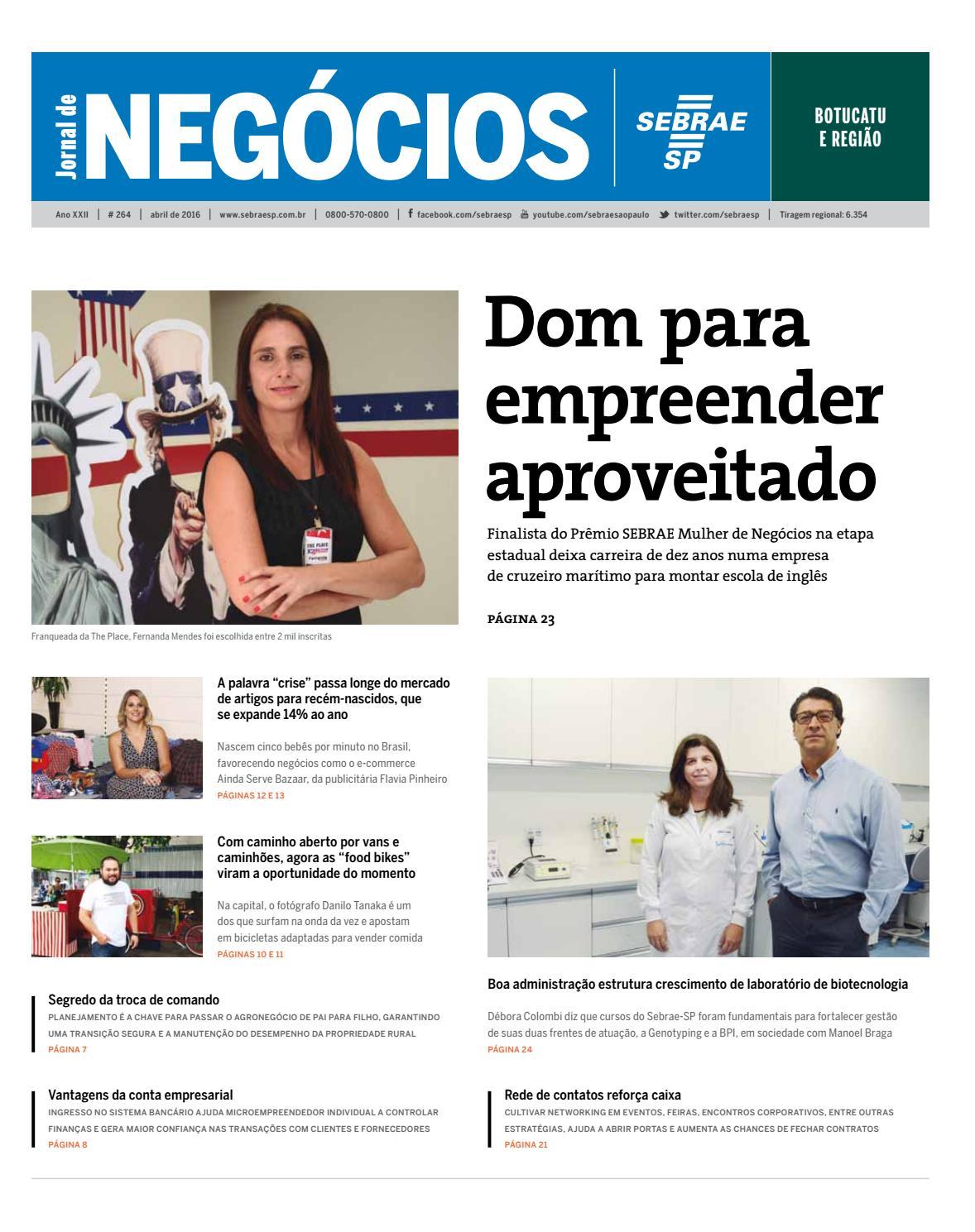 5c0b1ba42 Jornal de Negócios Sebrae-SP - 01 de março de 2016 - Botucatu e região by  Sebrae-SP - issuu