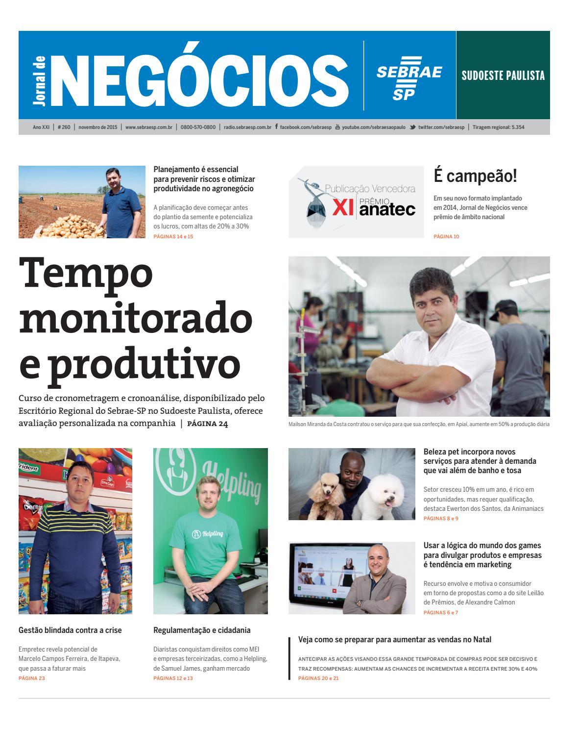 7953c50fc Jornal de Negócios Sebrae-SP - 01 de novembro de 2015 – Sudoeste Paulista  by Sebrae-SP - issuu