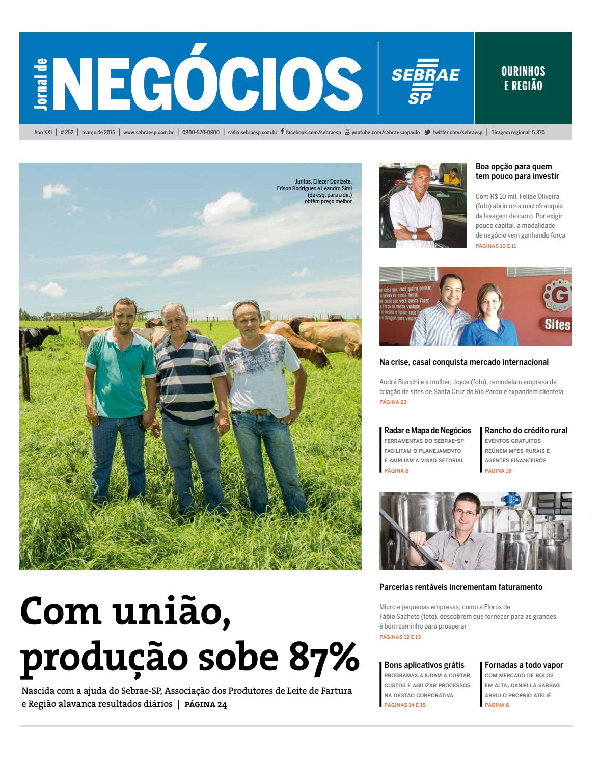 ee291927fea Jornal de Negócios Sebrae-SP - 01 de março de 2015 - Ourinhos by Sebrae-SP  - issuu