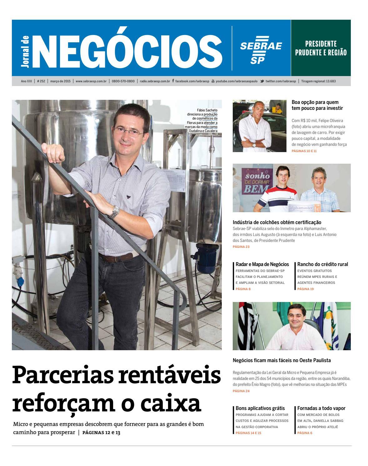 Jornal De Neg Cios Sebrae Sp 01 De Mar O De 2015 Presidente