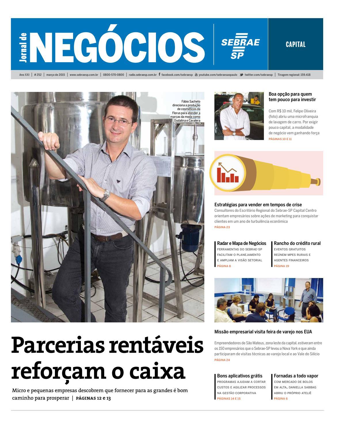 Jornal De Neg Cios Sebrae Sp 01 De Mar O De 2015 S O Paulo By