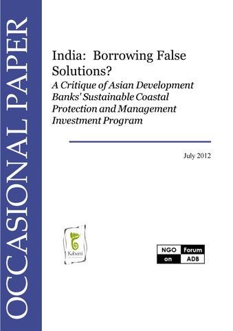 India: Borrowing False Solutions? by NGO Forum on ADB - issuu