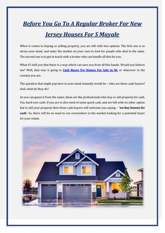 Before You Go To A Regular Broker For New Jersey Houses For S Mayale