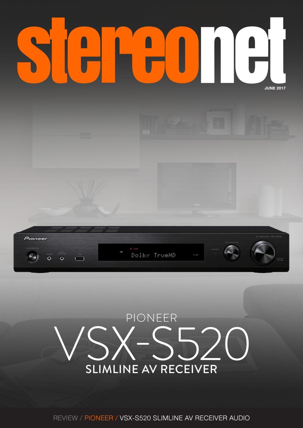 StereoNET: PIONEER VSX-S520 Slimline AV Receiver Review by ...