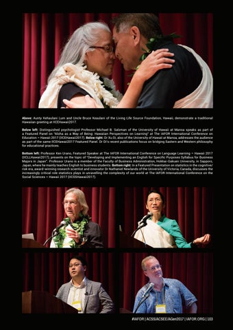 Acss acsee agen official conference programme 2017 by iafor issuu above aunty kehaulani lum and uncle bruce keaulani of the living life source foundation hawaii demonstrate a traditional hawaiian greeting at m4hsunfo