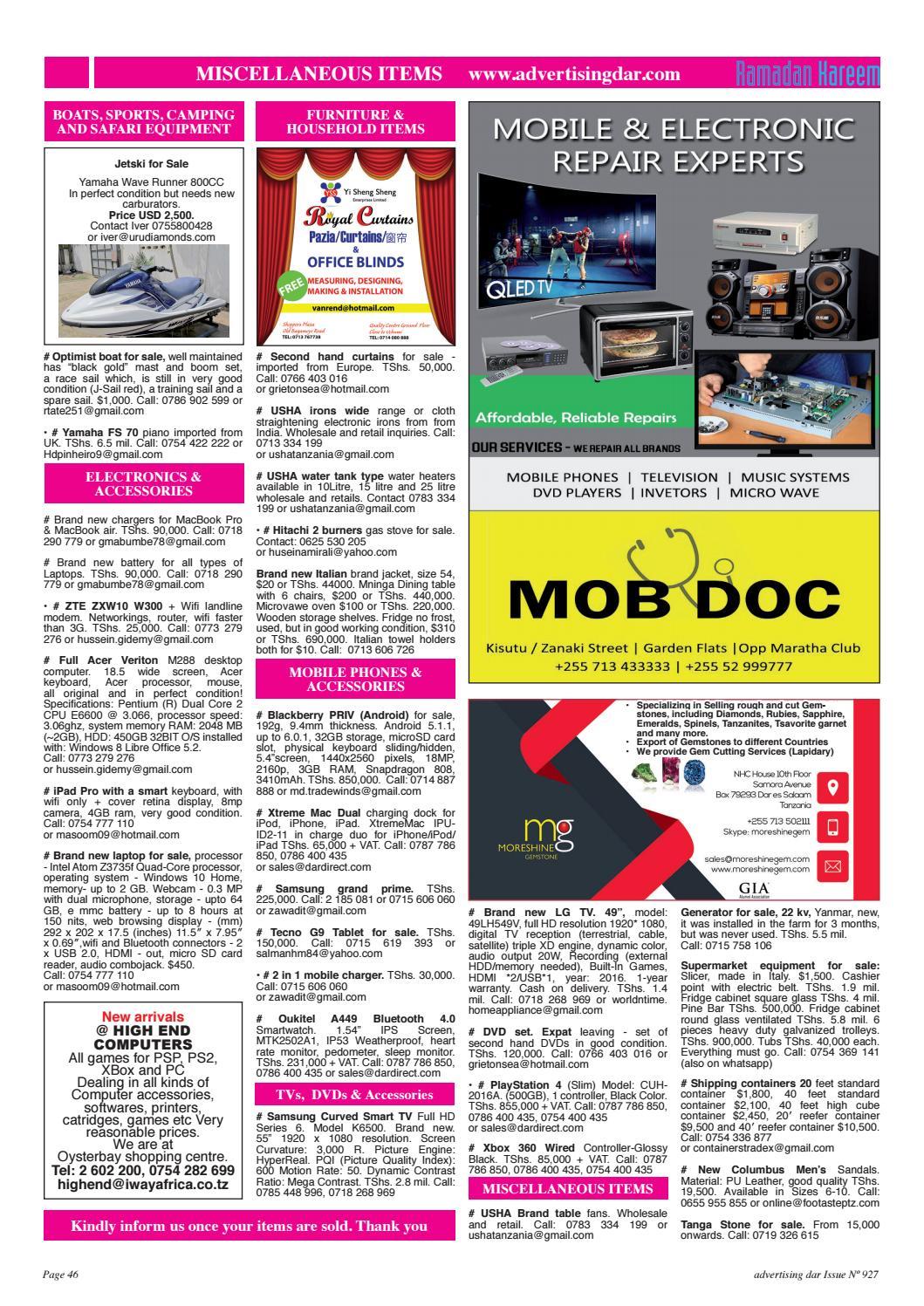 Advertising Dar Issue Nº 927 - 2nd June 2017