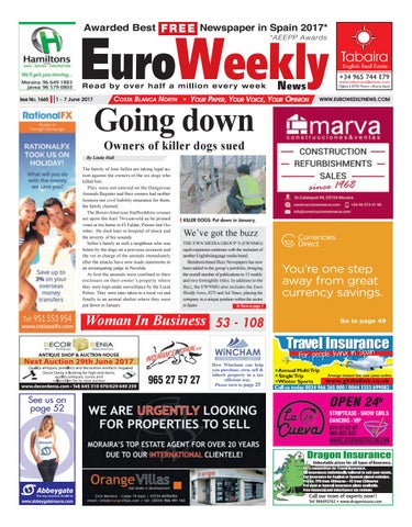 Euro Weekly News - Costa Blanca North 1 - 7 June 2017 Issue 1665 by