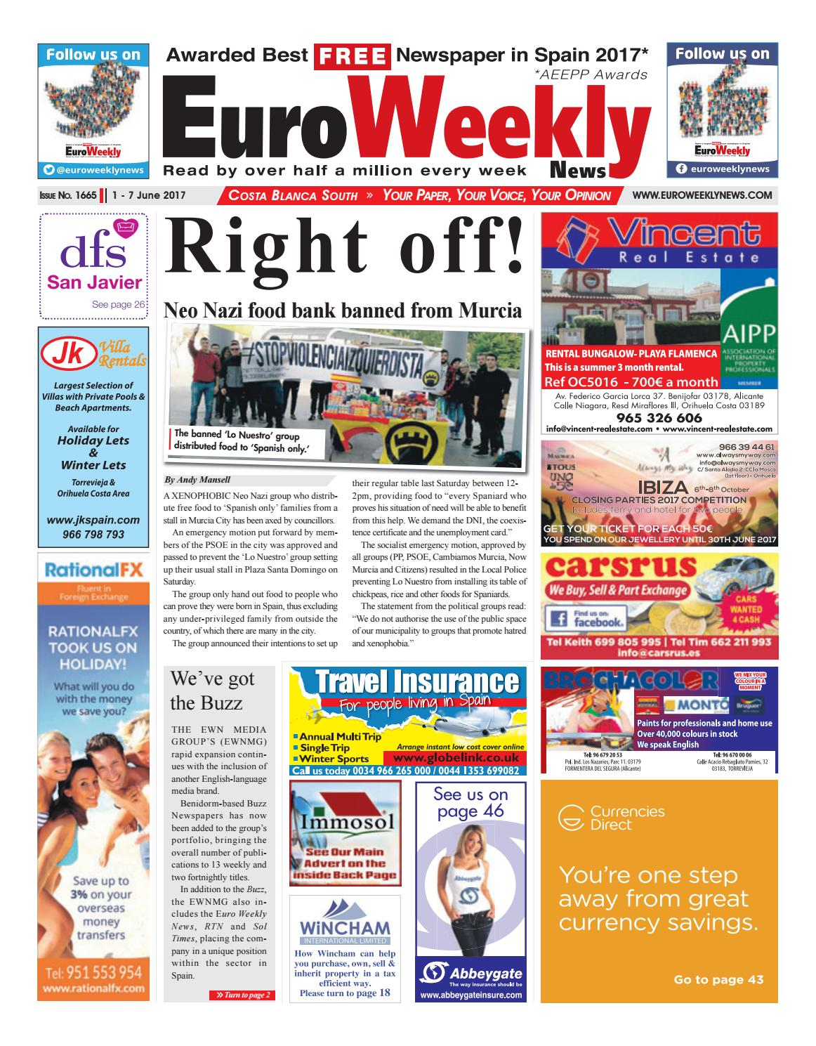 Euro weekly news costa blanca south 1 7 june 2017 issue 1665 by euro weekly news costa blanca south 1 7 june 2017 issue 1665 by euro weekly news media sa issuu fandeluxe Gallery