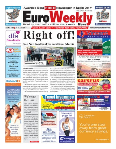 Euro weekly news costa blanca south 1 7 june 2017 issue 1665 by page 1 fandeluxe Image collections