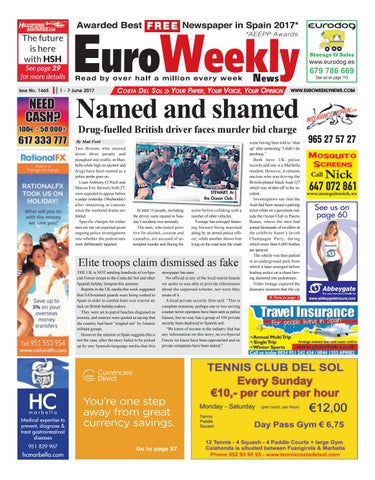 Euro Weekly News Costa Del Sol 1 7 June 2017 Issue 1665 By