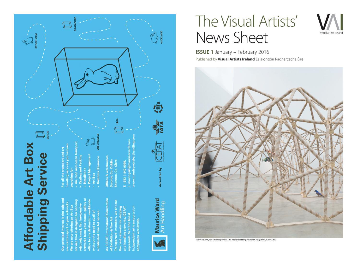 Visual artists news sheet 2016 january february by visual artists news sheet 2016 january february by visualartistsireland issuu malvernweather Choice Image