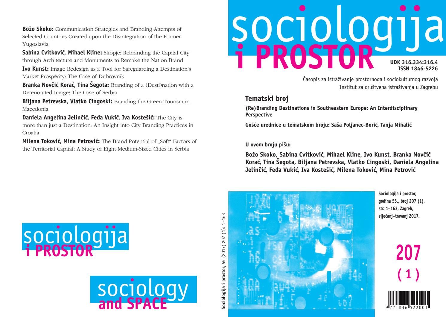 Sociologija I Prostor Sociology And Space Vol 55 No 1 207 By