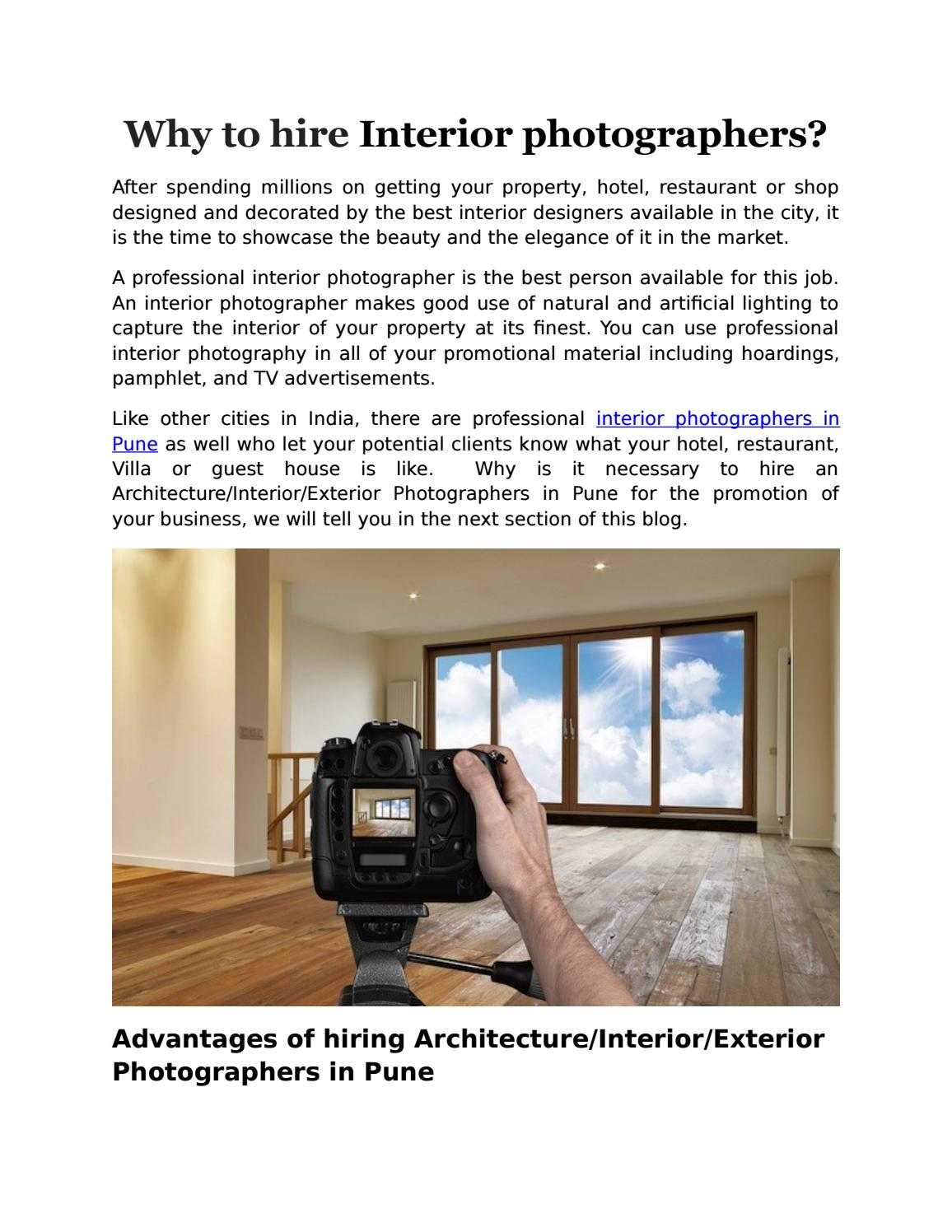 Why to hire interior photographers by Angad Joshi - issuu