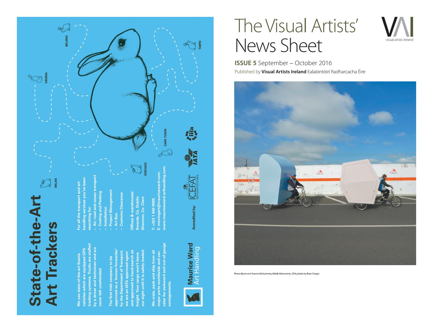 Visual artists news sheet 2016 september october by