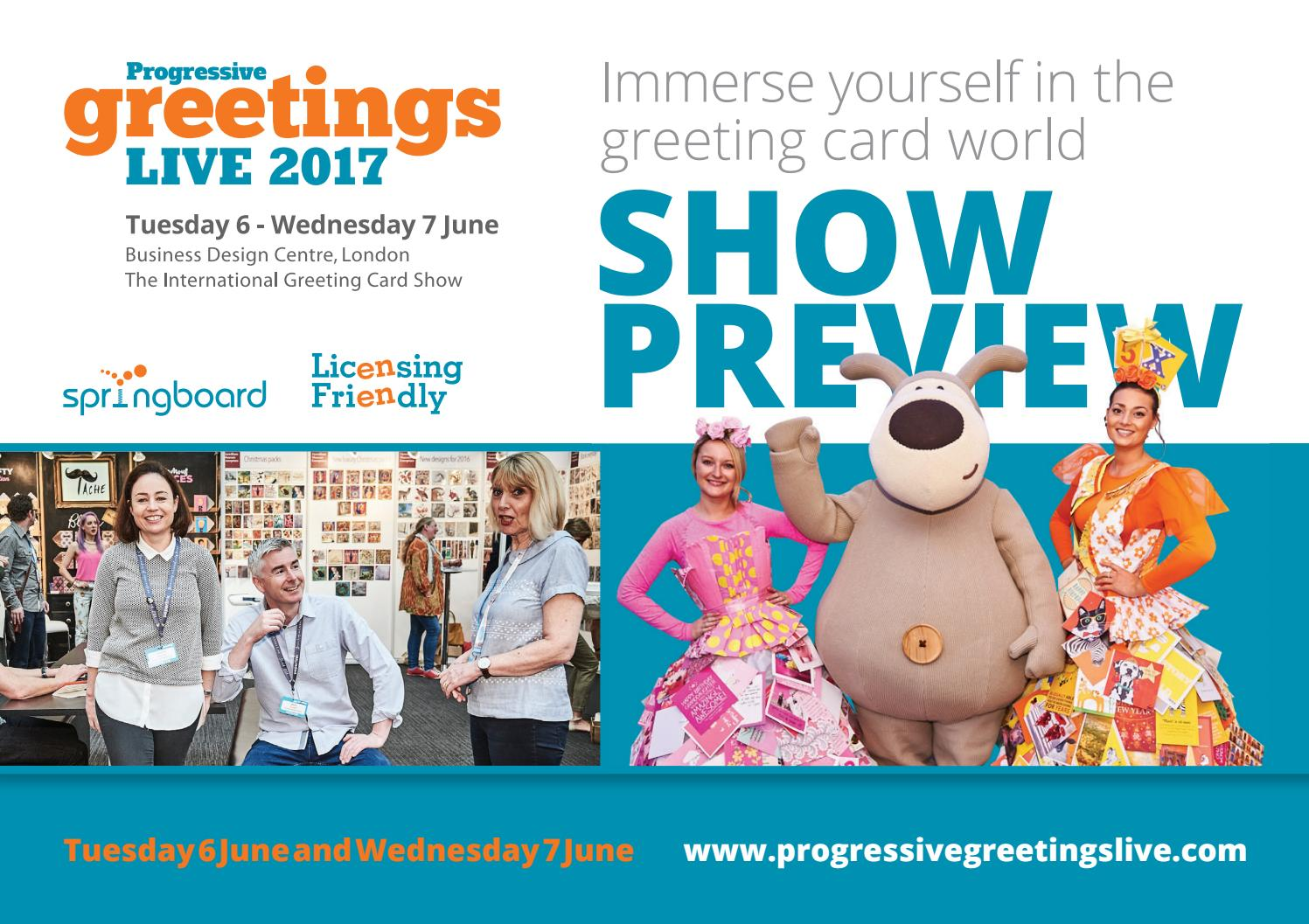 Progressive Greetings Live 2017 Show Preview By Max Publishing Issuu