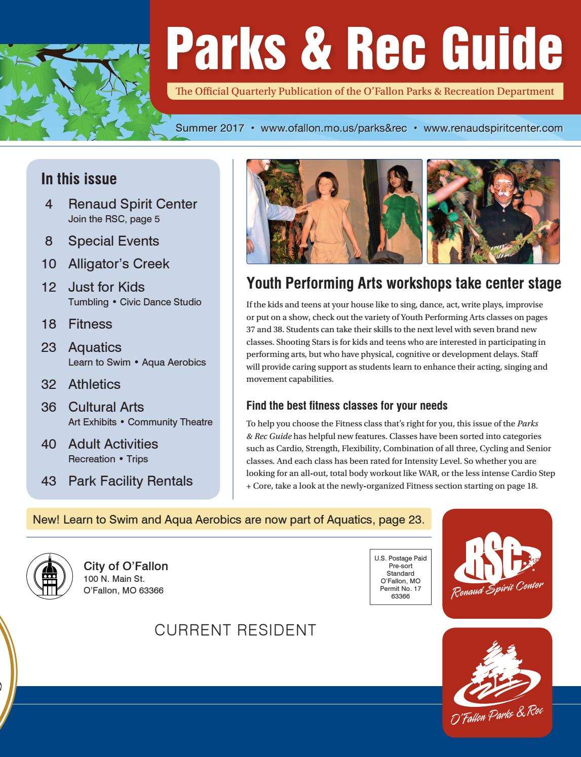 o'fallon parks and rec guide - summer 2017 by city of o'fallon - issuu