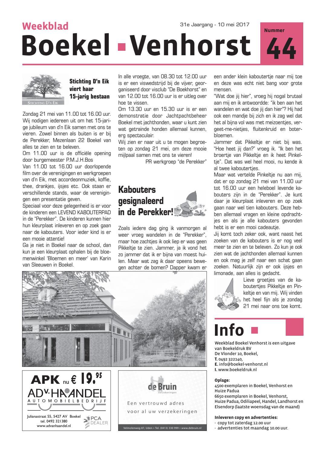 31e Jaargang Nr 44 10 Mei 17 By Boekeldruk Issuu
