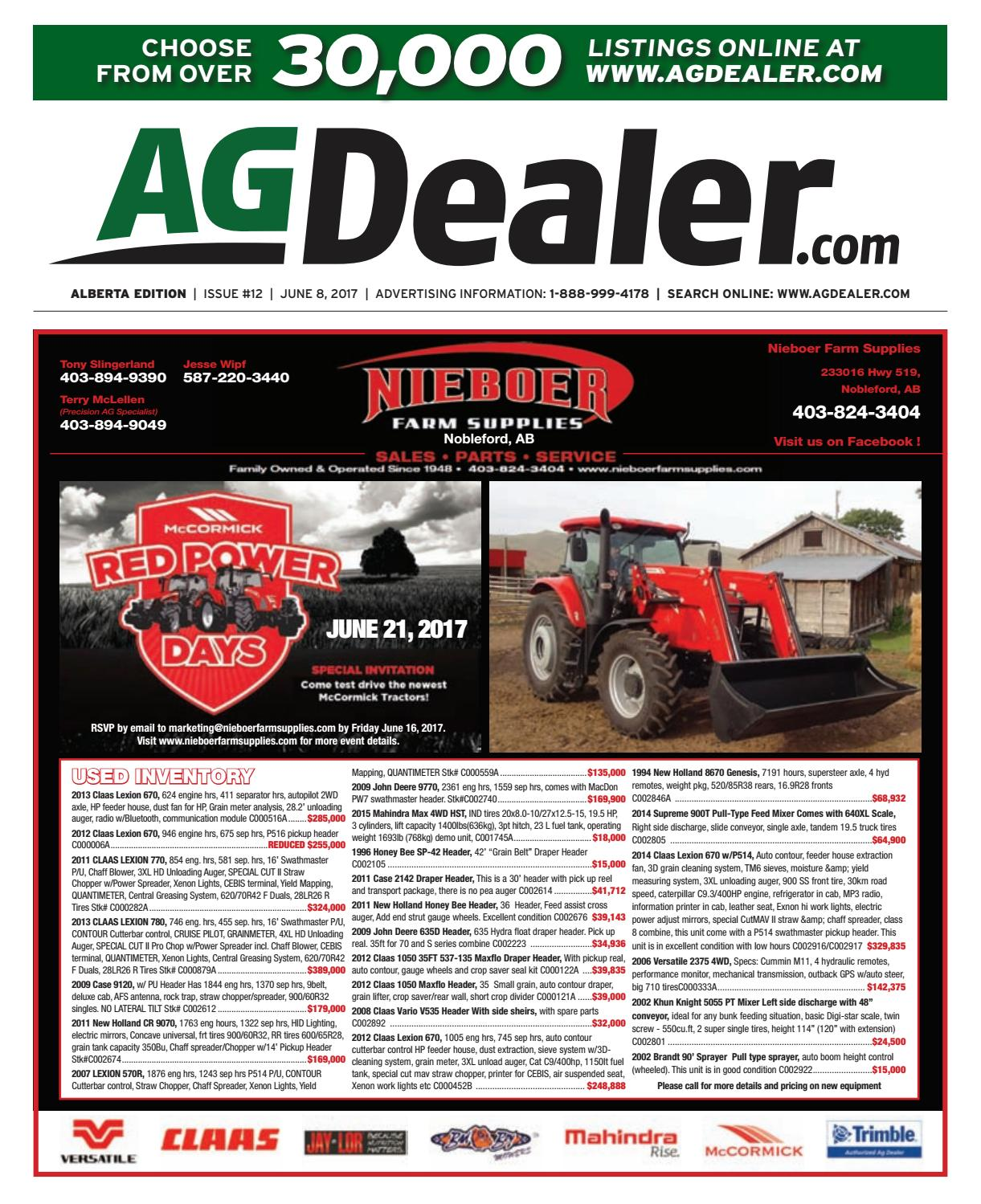 Wheel & Deal Alberta, June 8, 2017 by Farm Business ... on