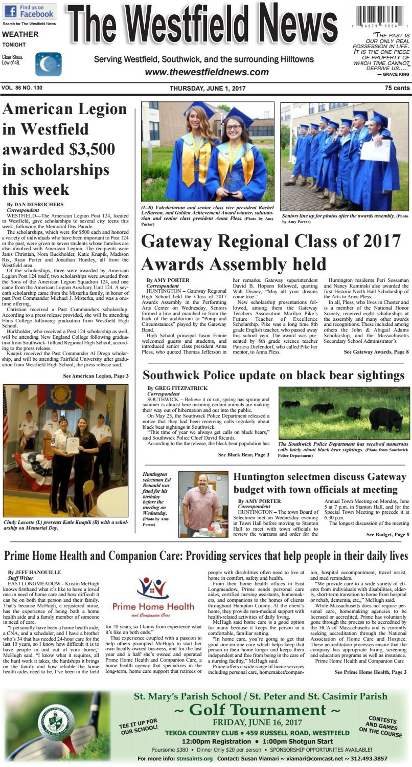 Thursday, June 1, 2017 by The Westfield News - issuu