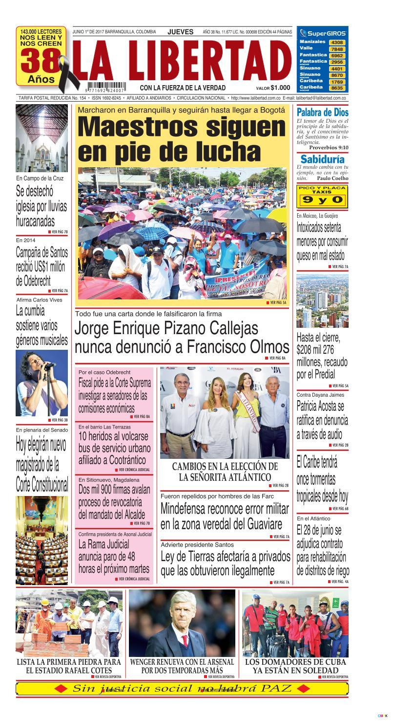 La Libertad 22 De Marzo De 2017 By Diario La Libertad Issuu # Muebles Pizano Cali
