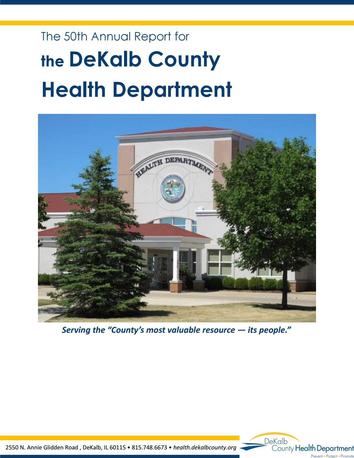 The 50th Annual Report for the DeKalb County Health Department by DeKalb  County Health Department - issuu