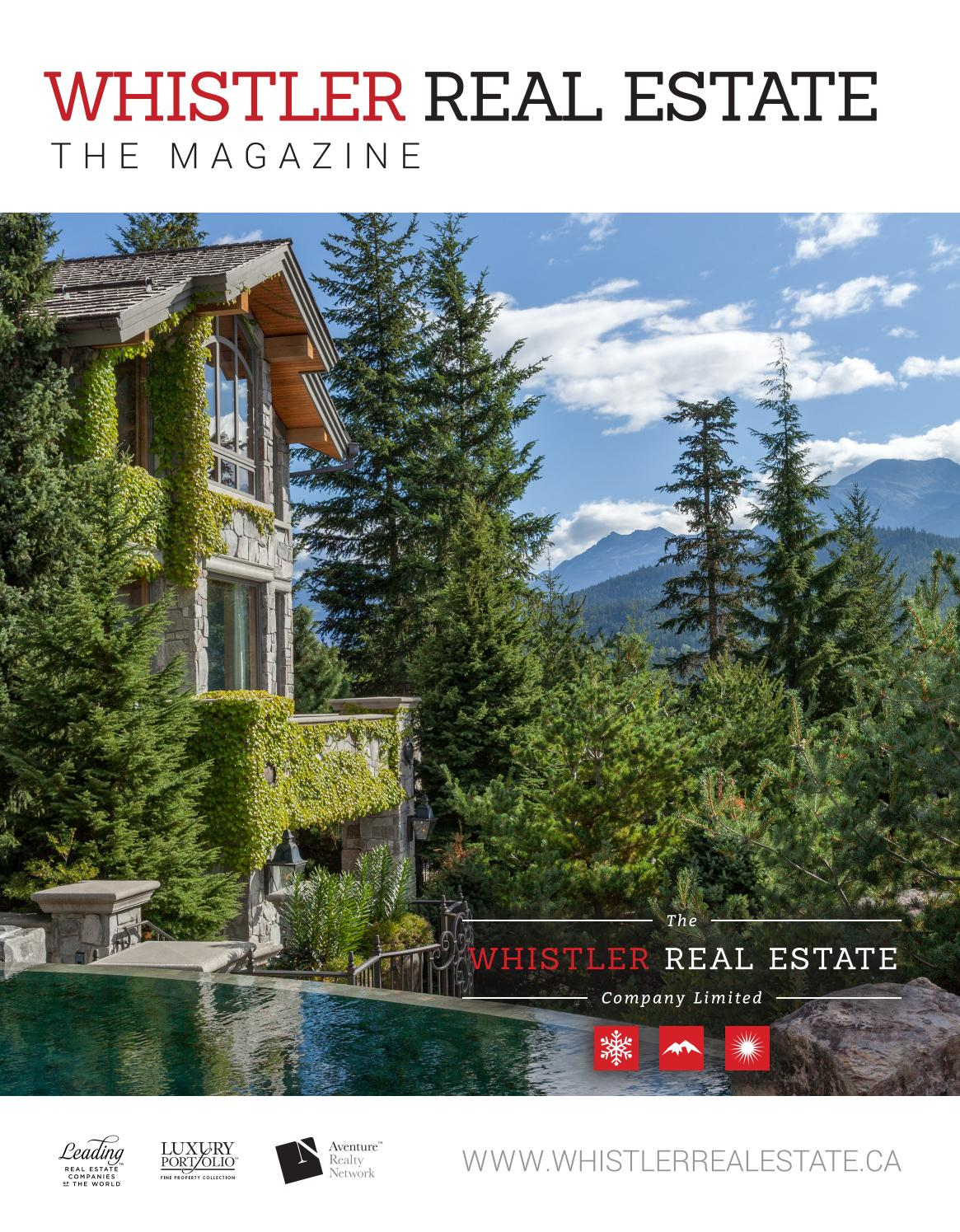 Whistler Real Estate The Magazine   Summer 2017 By WhistlerRealEstate    Issuu