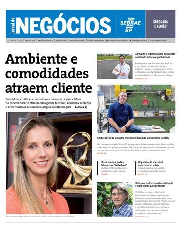 6d3f86fad8 Jornal de Negócios Sebrae-SP - Agosto de 2015 - Sorocaba e região by ...
