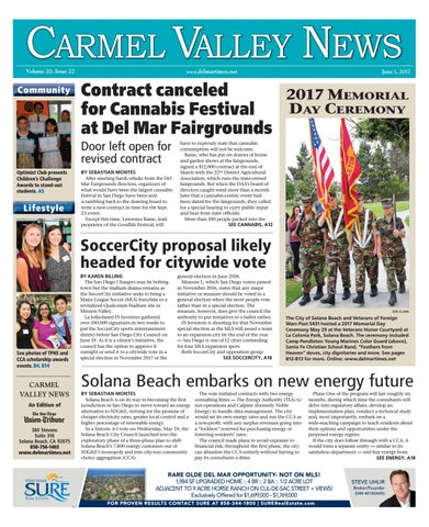 2aa1e6e4ebf Carmel Valley News 06 01 17 by MainStreet Media - issuu