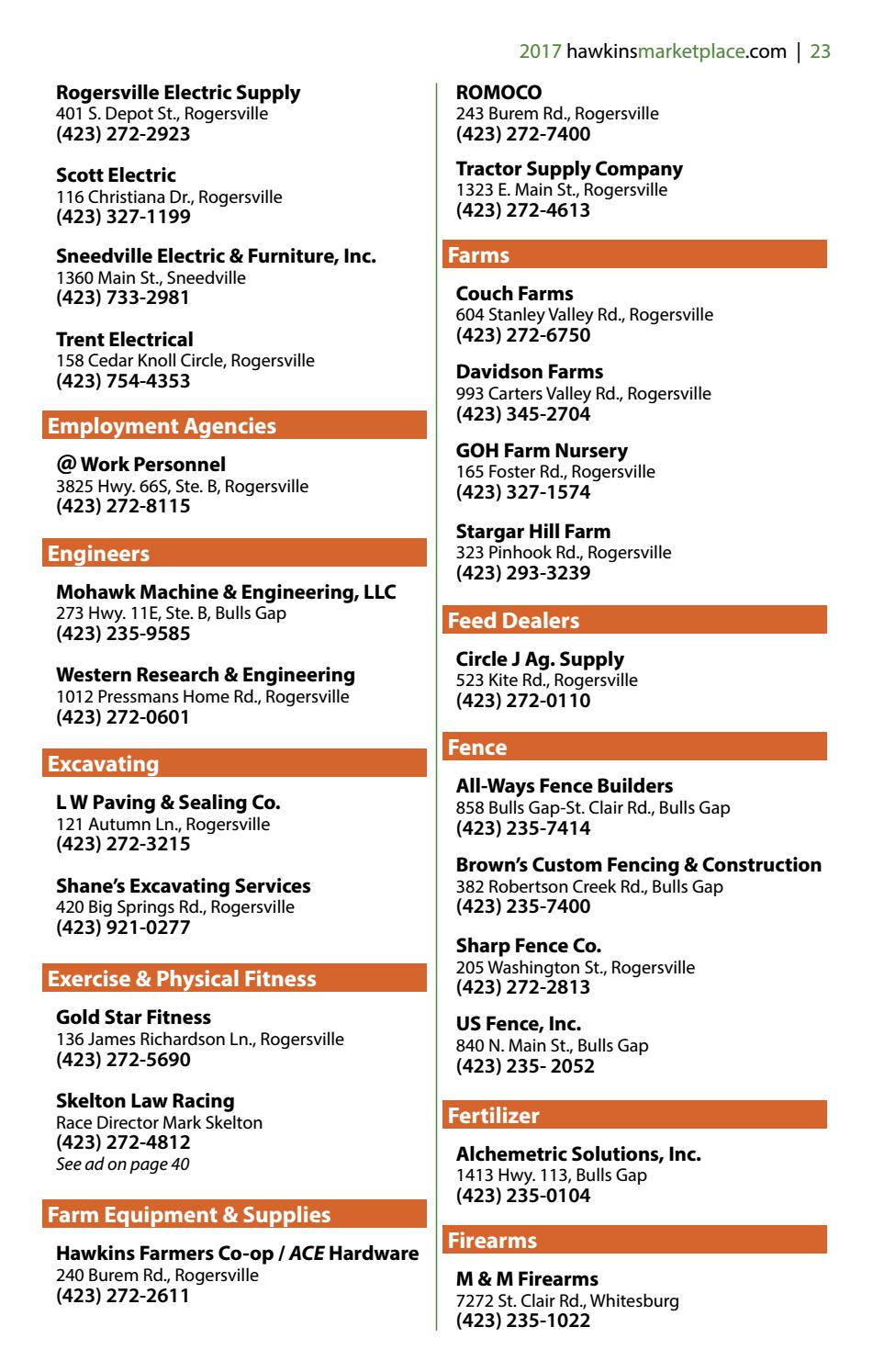 Hawkins County Business Directory 2017 By Discover Hawkins