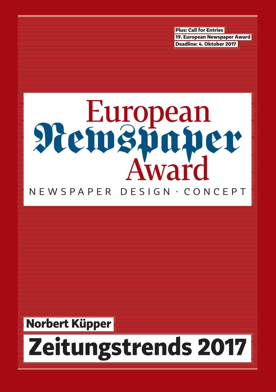 Call for Entries 19. European Newspaper Award by Norbert Kuepper - issuu