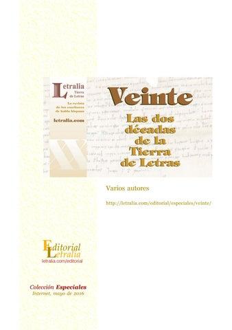 Veinte: las dos décadas de la Tierra de Letras by Letralia, Tierra ...