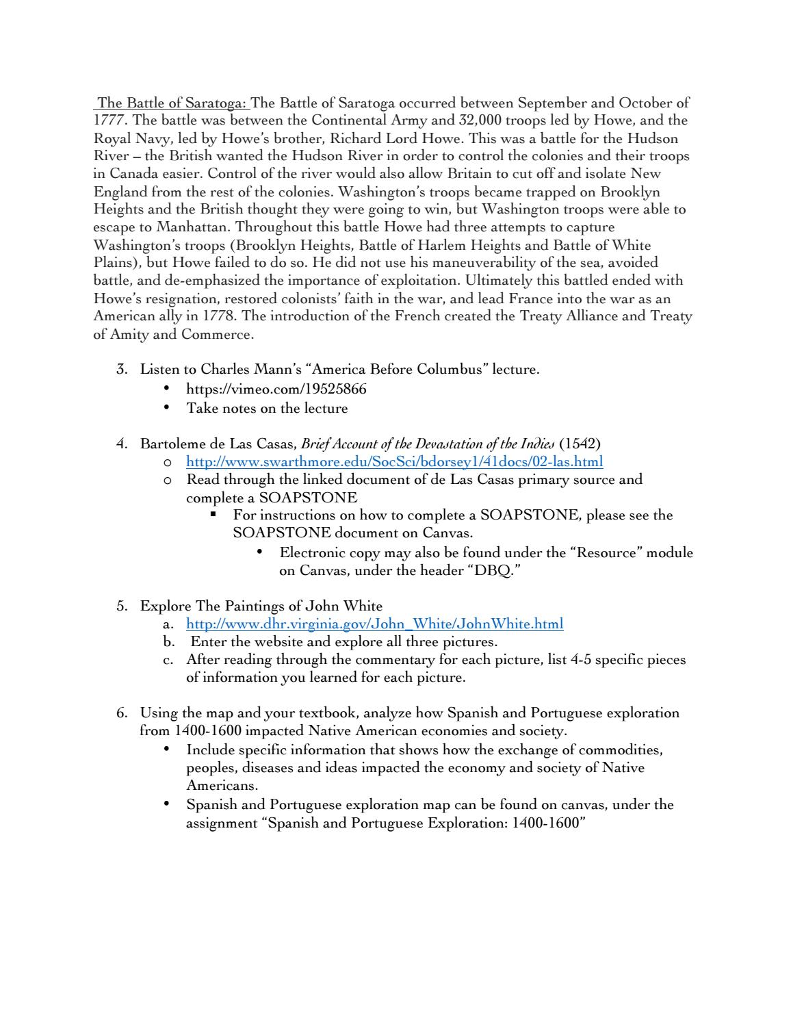 17-18 AP US History Summer Homework by St. Andrews Schools ...