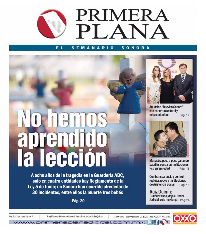 Edición del 2 de junio al 9 de junio de 2017 by Semanario Primera ...