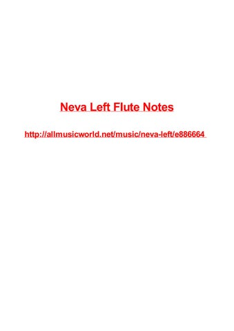 Neva Left Flute Notes By Frank Seamons Issuu