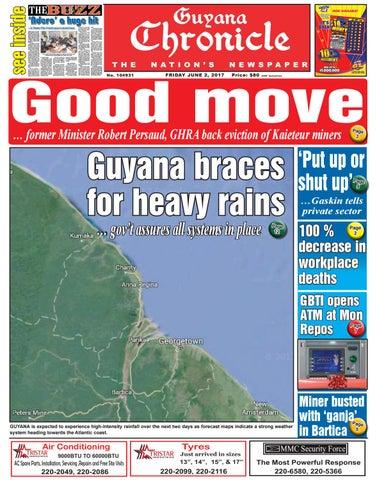 Guyana chronicle e paper 02 06 2017 by Guyana Chronicle E-Paper - issuu