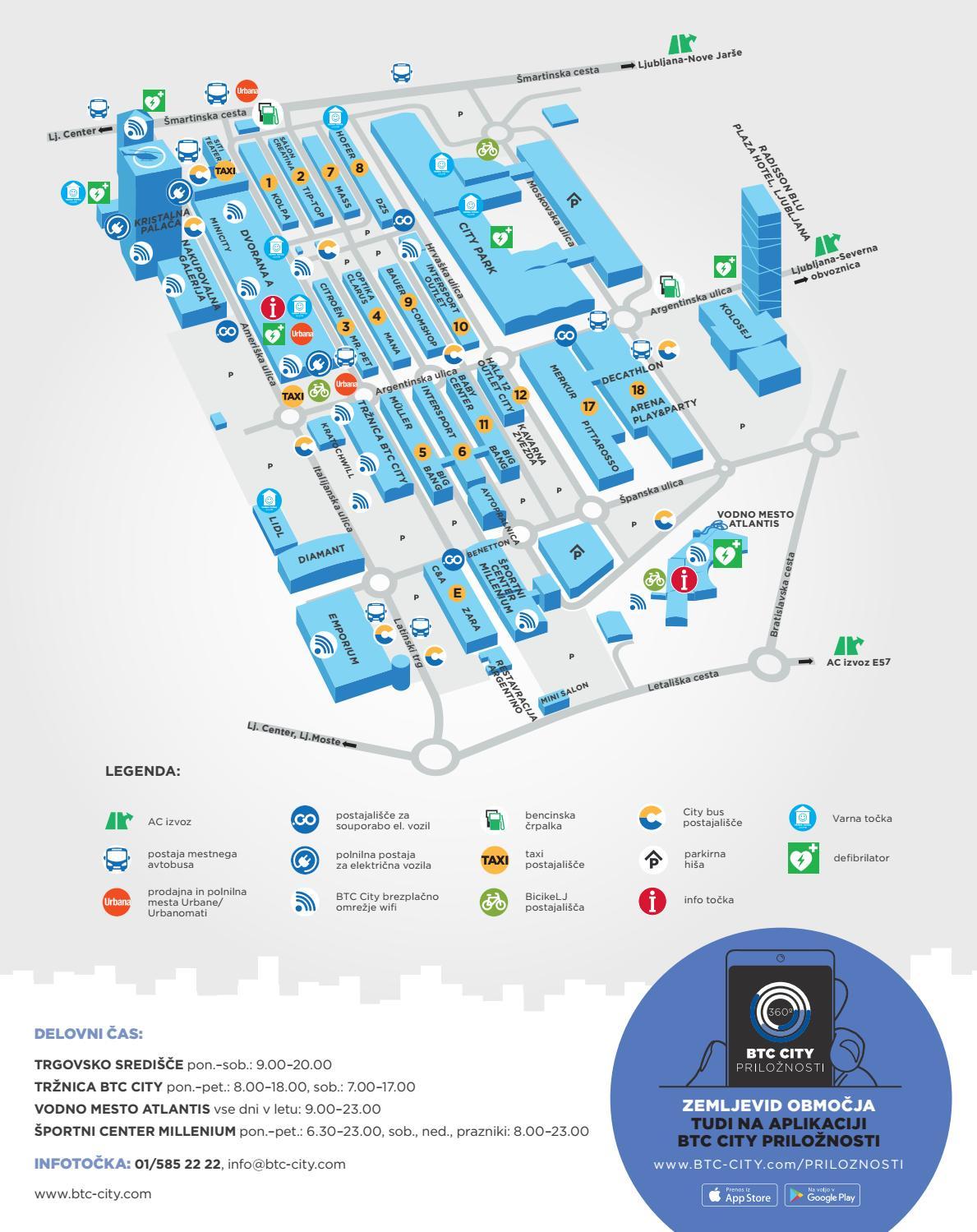 btc liubliana zemljevid