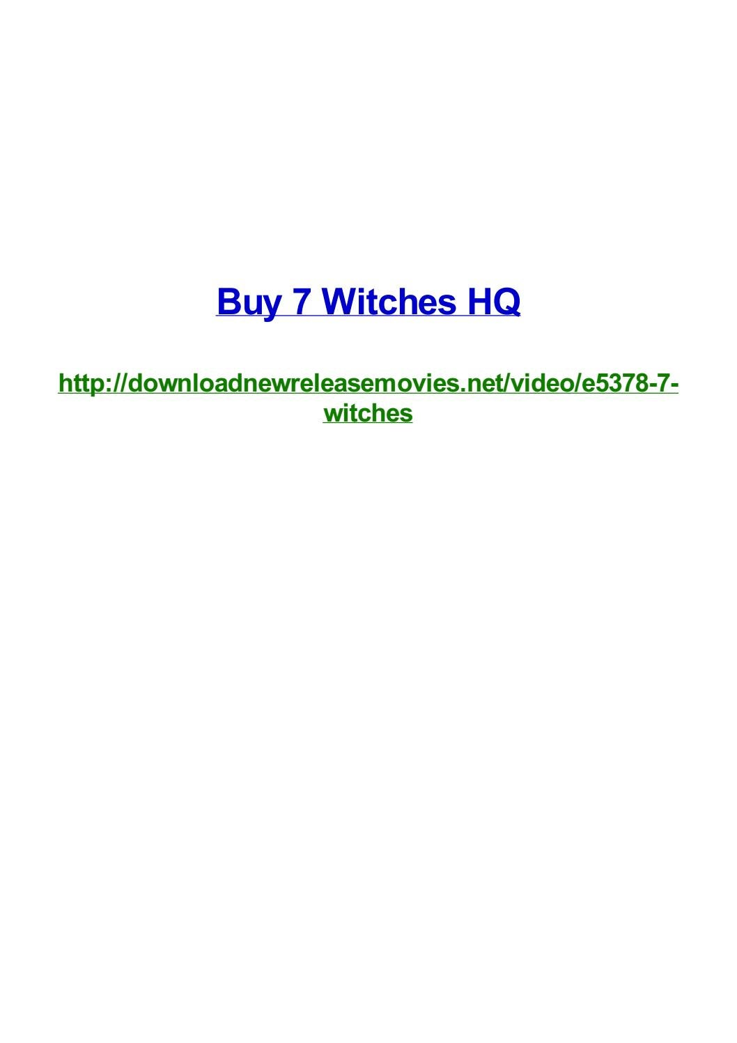 Buy 7 witches hq by Frank Seamons - issuu