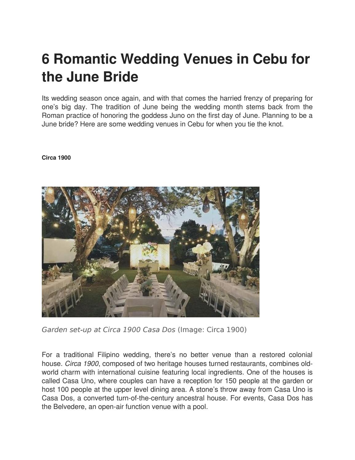 6 romantic wedding venues in cebu for the june bride by ...