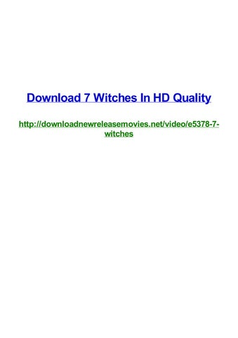Download 7 witches in hd quality by Frank Seamons - issuu