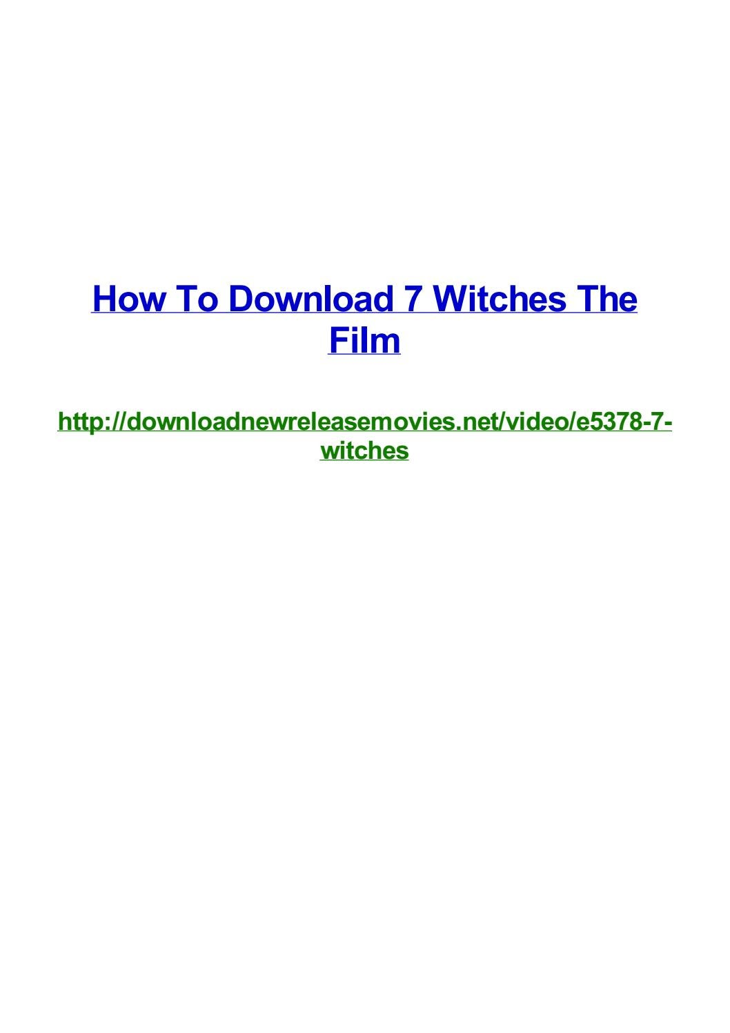 How to download 7 witches the film by Frank Seamons - issuu