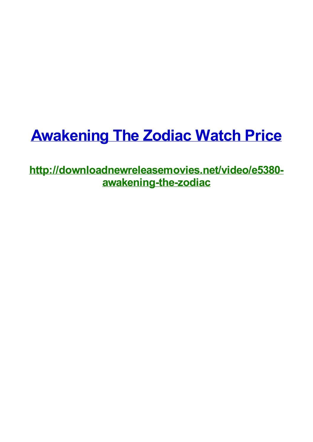 Awakening The Zodiac Watch Price By Frank Seamons Issuu 141 likes · 23 talking about this. issuu