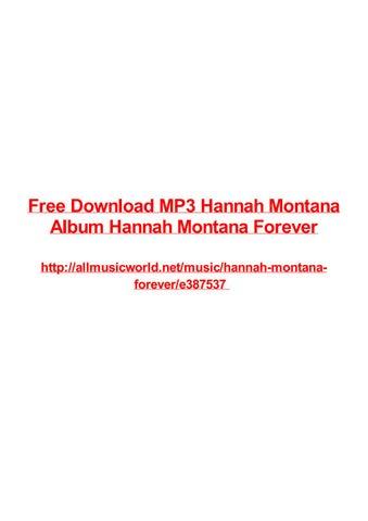 Free Download Mp3 Hannah Montana Album Hannah Montana Forever By Frank Seamons Issuu