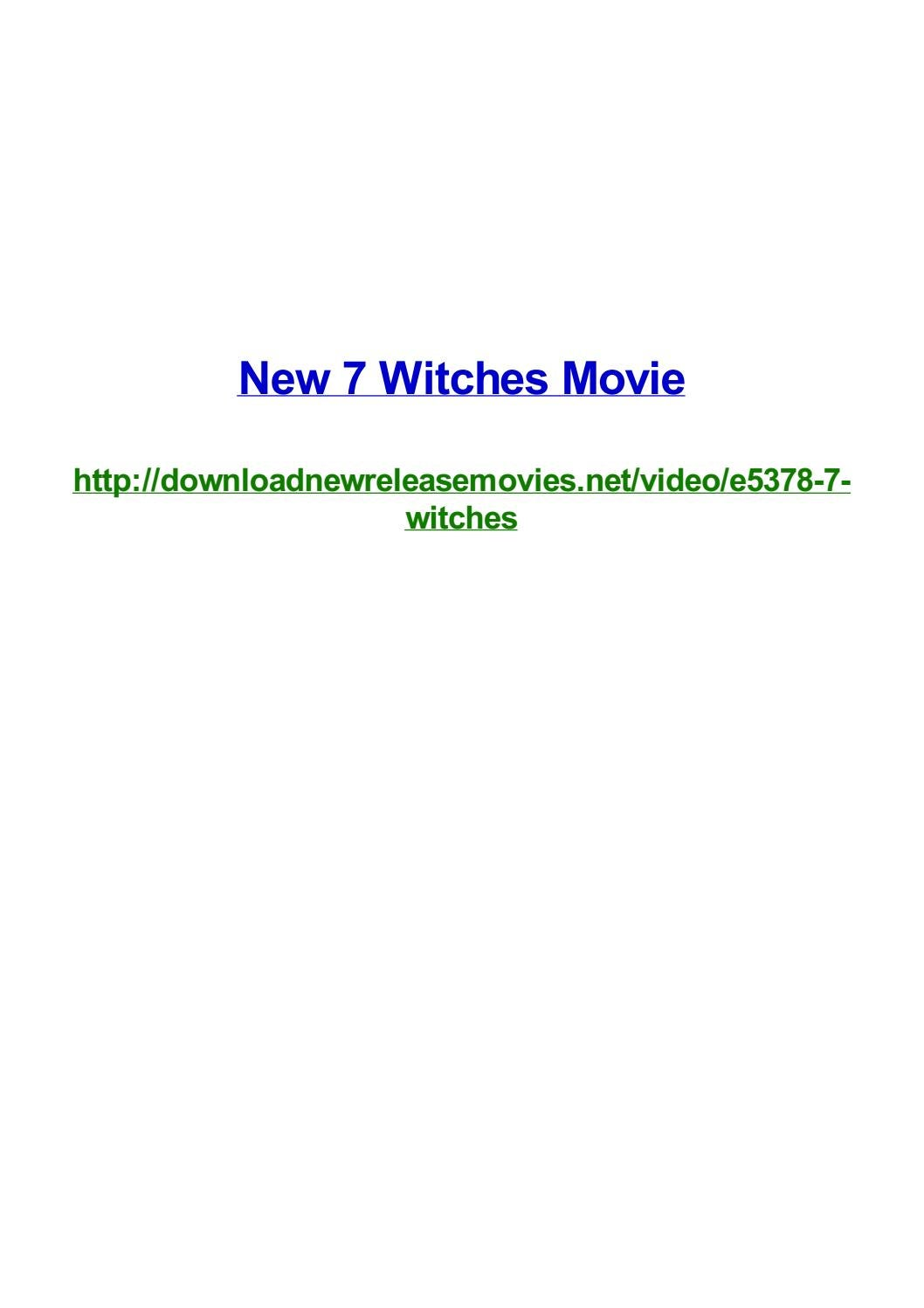 New 7 Witches Movie By Frank Seamons Issuu