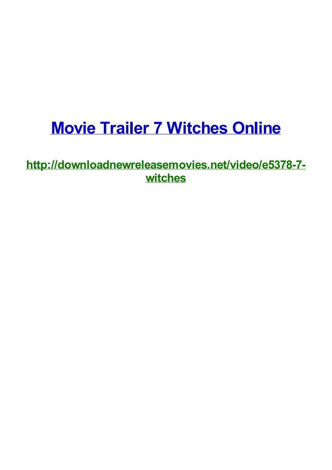 Movie trailer 7 witches online by Frank Seamons - issuu